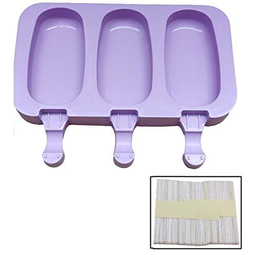 2 pezzi funzionale Ice Cream silicone Mold Popsicle Stampi fai da te in casa del fumetto gelato Popsicle Ice Pop Maker Mold (Color : A)
