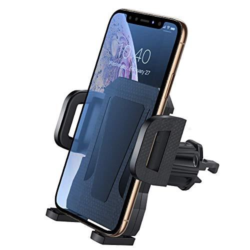 miracase MOVING LIFE Handyhalterung Auto, universale Smartphones Halterung Kfz fürs Auto Lüftung kompatibel mit iPhone 11 Pro XR/XS/XS Max/X/8/8+ Galaxy S10 Plus/S10/Note 9 Schwarz (Schwarz)