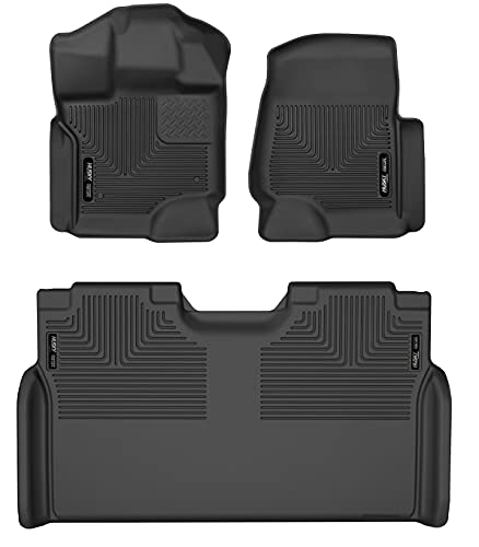 Husky Liners WeatherBeater Front & 2nd Seat Floor Liners #94041 - Fits 2015-21...