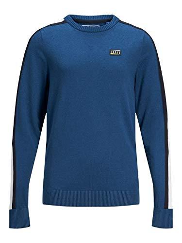 Jack Jones JUNIOR JOCBADGE, T-Shirt mit Rundhalsausschnitt, Blau 128 cm