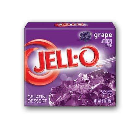 Jell-O Grape Flavor Gelatin Dessert Mix, 3 Ounce Box