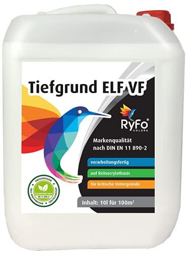 RyFo Colors Tiefgrund ELF verarbeitungsfertig 10l (Größe wählbar) - Premium Reinacrylat Tiefengrund für innen und außen
