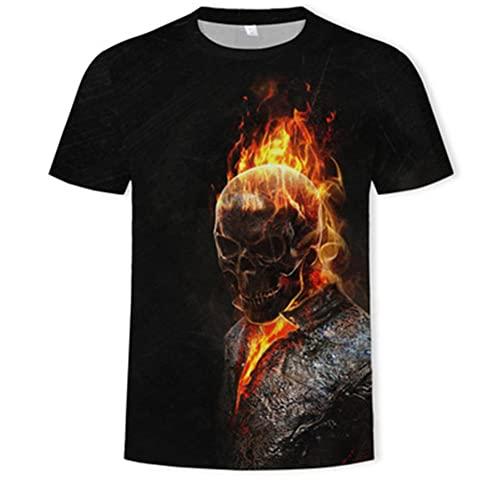 Reaper Skull Angel and Demon 3D Totalmente Impresa Camiseta para Hombre Moda De Verano Harajuku Camiseta De Manga Corta Camiseta Unisex,Shape 14,6XL