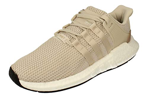 adidas EQT Support 93/17 Boost Herren Running Trainers Sneakers (UK 8 US 8.5 EU 42, Brown White beige DB0332)
