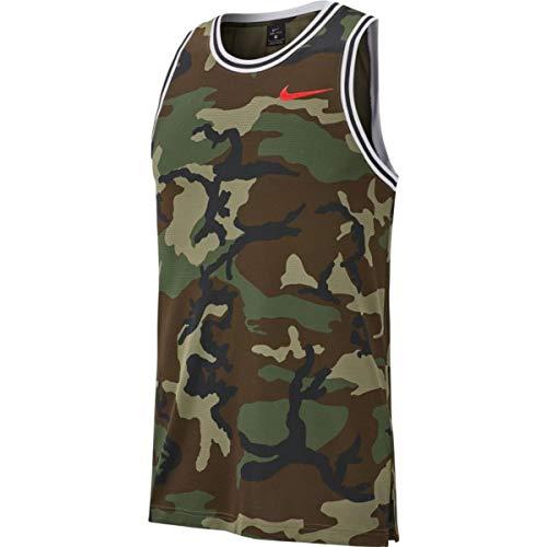 NIKE M Nk Dry DNA JSY Camo - Camiseta de Tirantes para Hombre, Hombre, Camiseta de Tirantes, CD7713-222, Verde, S