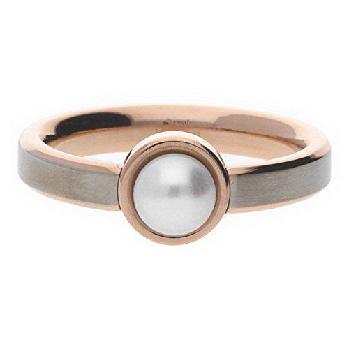Boccia Damen-Ring Titan gebürstet Perle weiß Gr. 54 (17.2)-0137-0254