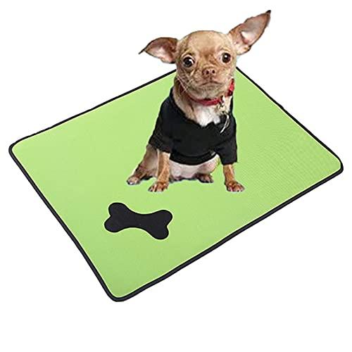 JYOKK Alfombra Refrescante para Perros Gatos Alfombrilla Manta para Perro Esterilla Refrigerante Mascotas Autoenfriamiento Alfombra (Varios TamañOs Green)
