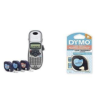 DYMO Label Maker with 3 Bonus Labeling Tapes   LetraTag 100H Handheld Label Maker & LT Label Tapes & Authentic LetraTag Labeling Tape for LetraTag Label Makers 1/2   W x 13  L 1 roll  16952