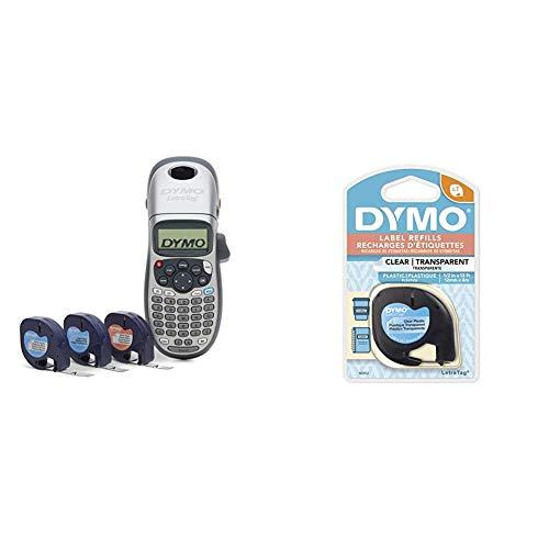 DYMO Label Maker with 3 Bonus Labeling Tapes | LetraTag 100H Handheld Label Maker & LT Label Tapes & Authentic LetraTag Labeling Tape for LetraTag Label Makers, 1/2'' W x 13' L, 1 roll (16952)