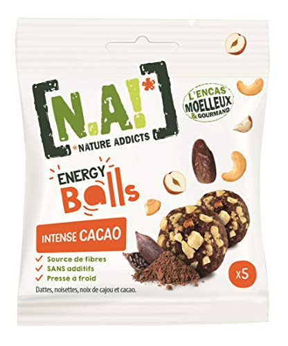 N.A! Nature Addicts Energy Balls Haselnuss & Kakao Multipack 10x5 Stück (10x40g)