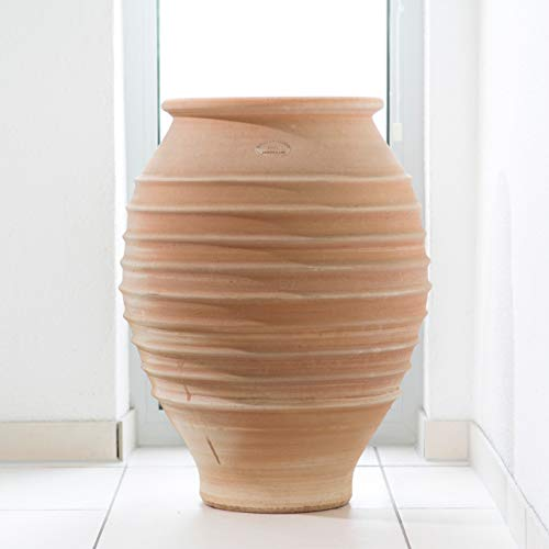 Céramique crète | Amphore en terre cuite à la main antigel pour le jardin 60 cm | décoration méditerranéenne u. Jardinière, jardin / terrasse, agave