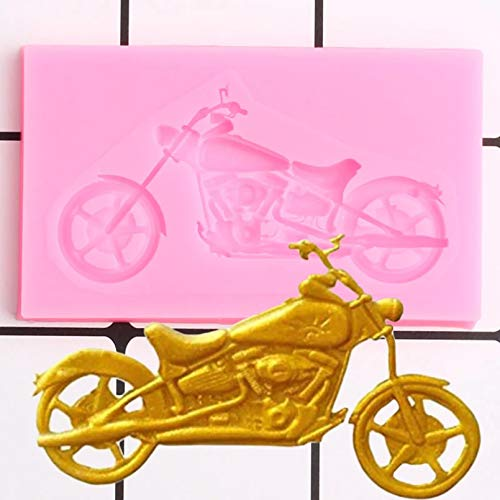 LNOFG Motorrad Silikonform Geburtstagstorte Dekoration Werkzeug Kuchenform Candy Clay Schokoladenform