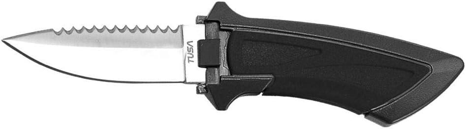 Locking Sheath Included TUSA Blunt Tip Dual Edge Mini Dive Knife