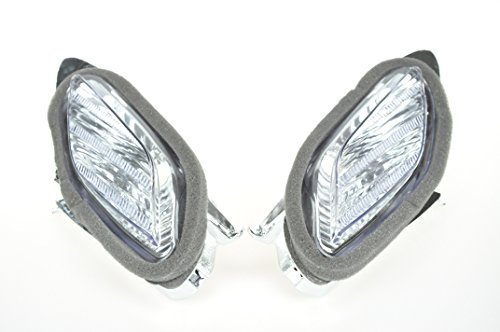 European 2003-2005 R6 Topzone Moto Front Blinker Turn Signals rauchgrau Lens f/ür Yamaha 2002-2006 R1 2004-2009 FZ6