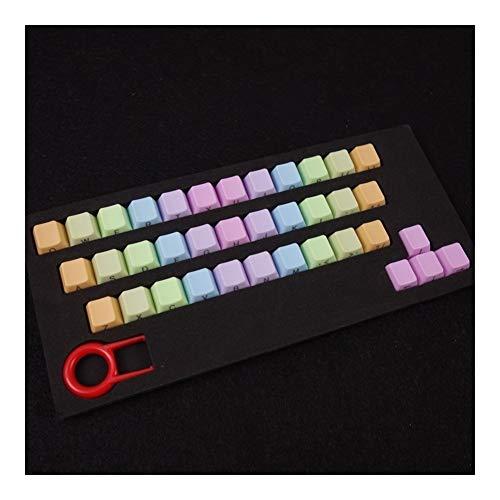 ScottDecor Tastaturplatte 108 Tasten 37 Schlüssel/Set-Schlüssel-Abdeckung Mechanische Tastatur Bunte Höhe ABS Helle Farbe stufenweise Farbe ändern Double Dip-Dye Key Caps (Colore : ORO)