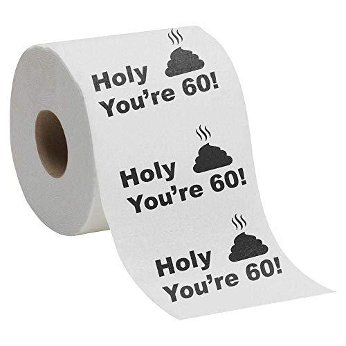 60th Birthday Gift Present Toilet Paper - Happy...
