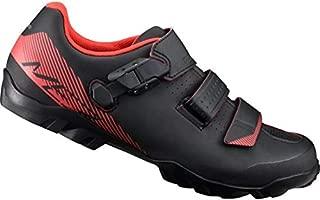 Shimano Men ME300 SPD MTB Cycling Shoe - Black/Red, Size EU 46