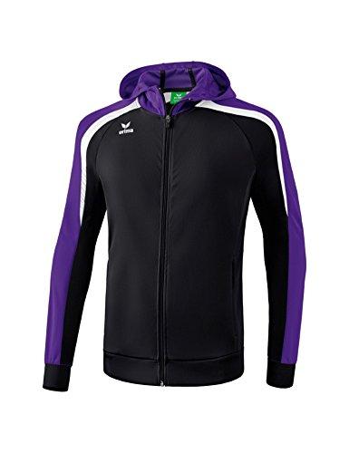 Erima Kinder Liga LINE 2.0 Trainingsjacke mit Kapuze, schwarz/Violet, 164