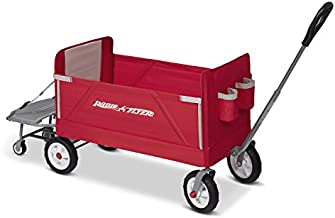 Radio Flyer 3-in-1 Folding Wagon with Cooler Caddy for Kids, Garden & Cargo (Amazon Exclusive)