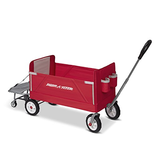 Radio Flyer 3-in-1 Folding Wagon with Cooler Caddy...