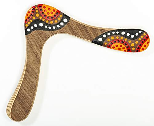 Bumerang Waak, Handbemaltes Holz