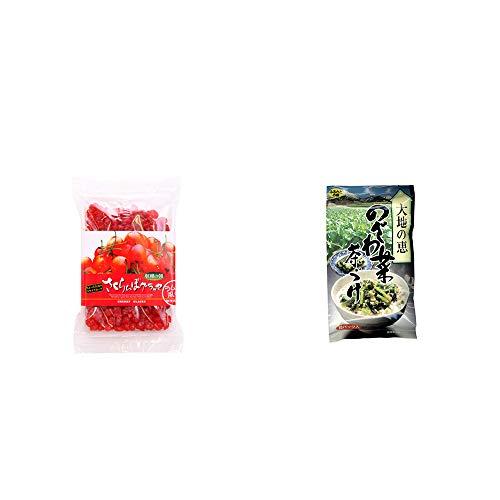 [2点セット] 収穫の朝 さくらんぼグラッセ ラム酒風味(180g)・特選茶漬け 大地の恵 のざわ菜茶づけ(10袋入)