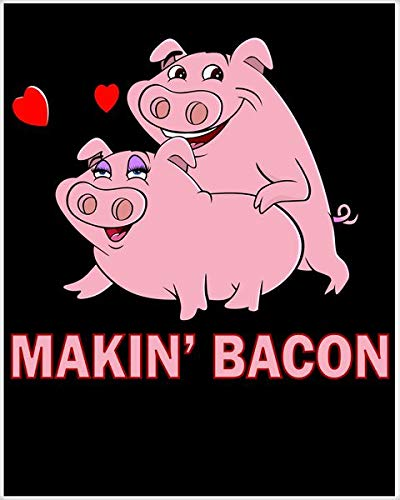 2PCS 8'X12' Metal Sign Makin' Bacon Pigs in Love Poster