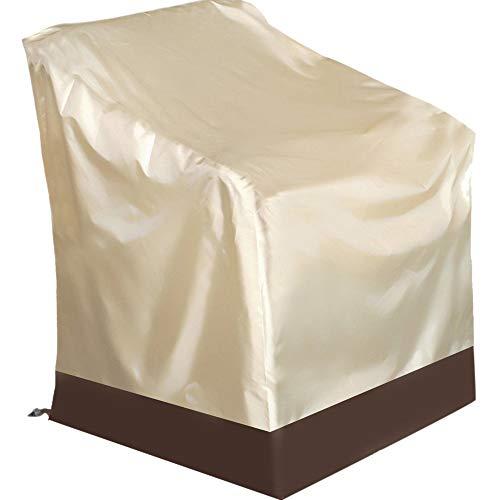 Fundas para Sillas Protectora Exterior Impermeable Prueba de Polvo Todo Tipo de Clima Exterior Interior Anti-UV Protector para Jardín y Balcón,84 * 67 * 73cm