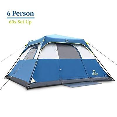 QOMOTOP Waterproof 6 Person, 60-Second Set Up Tent, Instant Cabin Tent, Camping Tent
