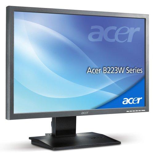 Acer B223W 55,9 cm (22 Zoll) TFT Monitor dunkelgrau DVI (Kontrast dyn. 2500:1, 5ms Reaktionszeit)