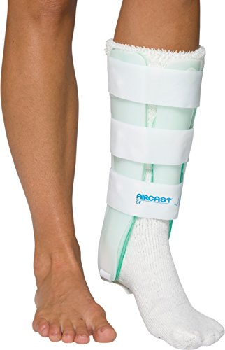 Aircast Leg Support Brace with Anterior Panel, Left Leg, One Size Fits Most