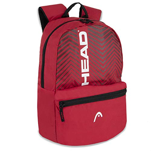 Sporty Laptop Chevron Backpack for Men and Women for College, Travel, Sports (Red)