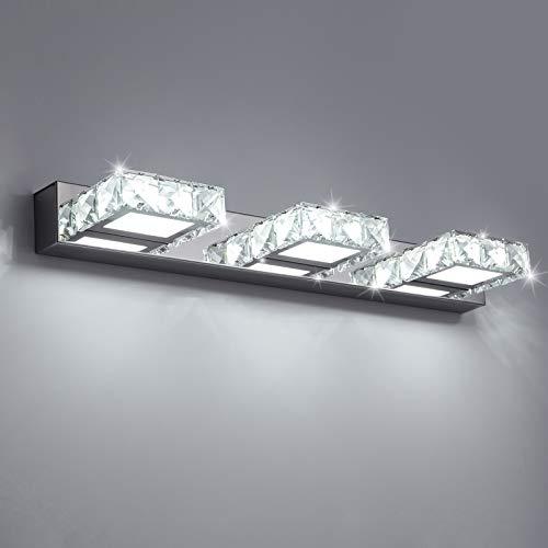 Temgin Aplique de Pared Espejo Baño con 3 Luces LED 9W luz Baño Aplique Pared Interior Lámpara para Baño Dormitorio Escalarera Blanco frío 6000K 620LM 50CM