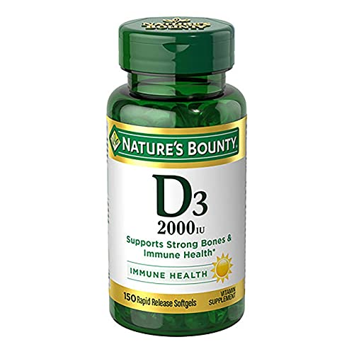 Price comparison product image Nature's Bounty Vitamin D3 2000 IU Softgels 150 ea (Pack of 5)