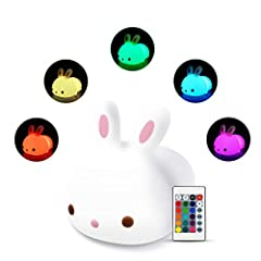 【Relaxation at Home】 The colorful soothing animal lamps allow you to feel relaxed and sleep peacefully in the room. Enjoy its soft and gentle 16-color variation. 【Safe Gifts for Children】 The little pet nightlight is made of BPA-free harmless silicon...
