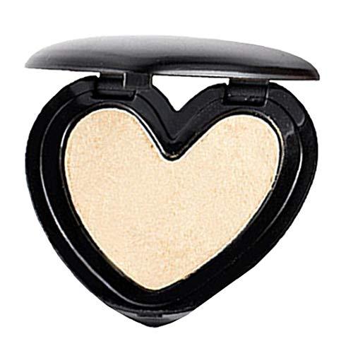 1pc 3d Mise En Évidence Chatoyante Poudre Métallique Surligneur Maquillage Coeurs Blushing Shaped Au Four Surligneur Saint-valentin Cadeau Pour Les Filles (3 Light Gold)