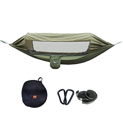 Multifunctioneel Parachutemateriaal van hoge kwaliteit Zonnescherm Insectbestendige draagbare hangmat Outdoor Camping Slapen Swing, legergroen