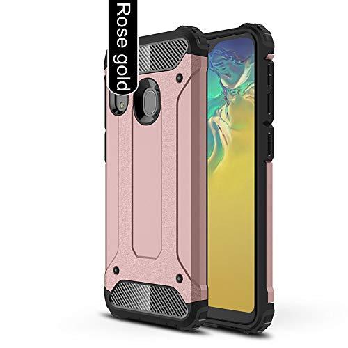 ANWEN para Xiaomi Mi Note 10 Lite Funda,Robusta Armadura Híbrida TPU + PC [Doble Capa] Carcasa de Protección Hibrida Armadura Funda para Xiaomi Mi Note 10 Lite Smartphone-Oro Rosa