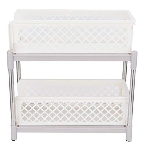 Étagère de Rangement pour armoires coulissantes à 2 Couches, Organisateur d'armoires sous évier avec tiroir de Rangement Coulissant