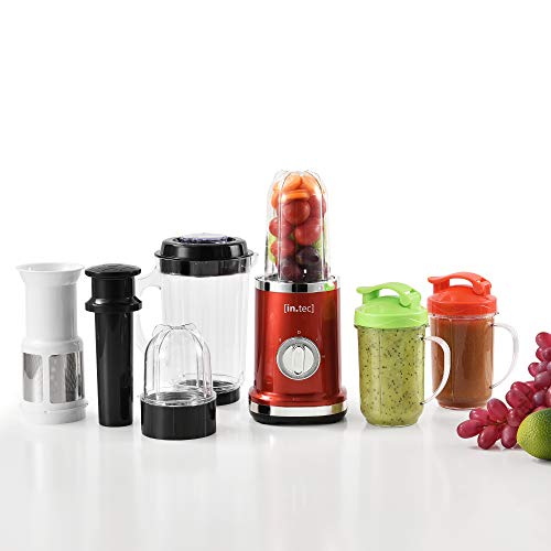 [in.tec] Standmixer 9in1 Mixer Smoothie-Maker Entsafter Küchenmaschine Blender