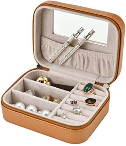 Leifeng Tower Multifunctional Caja de Almacenamiento de Joyas de Collar de Anillo Caja de joyería de joyería de Maquillaje Portátil Joyería de Almacenamiento de Viaje