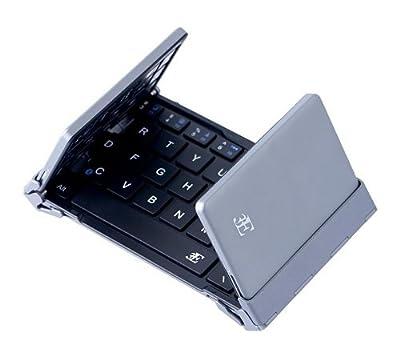 スリーイー Bluetooth3.0 キーボード 3つ折りタイプ 英語配列 64キー ケース付属(ブラック)3E Bluetooth Keyboard NEO(ネオ) 3E-BKY8-BK