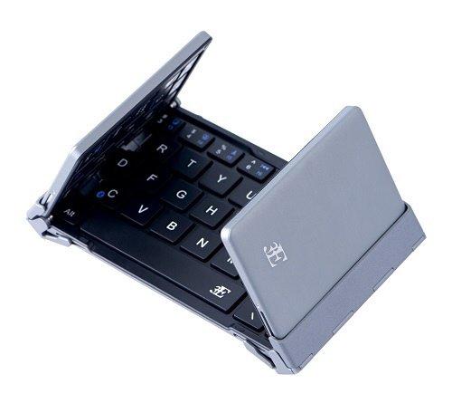 浅沼商会 3E-BKY8-BK 3E Bluetooth Keyboard 【NEO】 3つ折りタイプ ブラック ケース付属