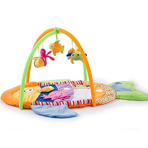 AIBAB Baby Gym Nid De Bébé Tapis Rampant Portable Jouets Éducatifs Cadeau De Naissance Poisson Coloré