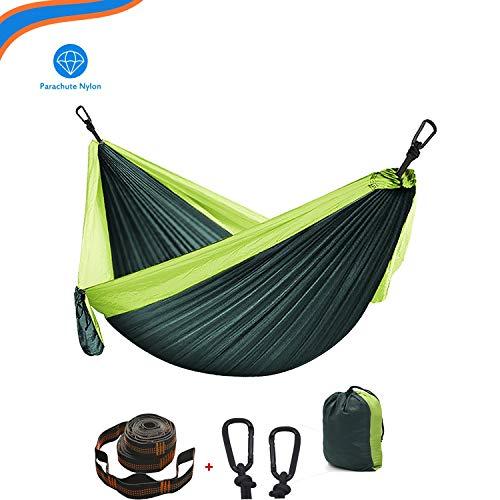 XXJF Hamaca Ultraligera 300 Kg De Capacidad De Carga, Transpirable Y De Secado Rápido Hamaca De Camping Nylon Portátil Paracaídas para Viaje Y Camping