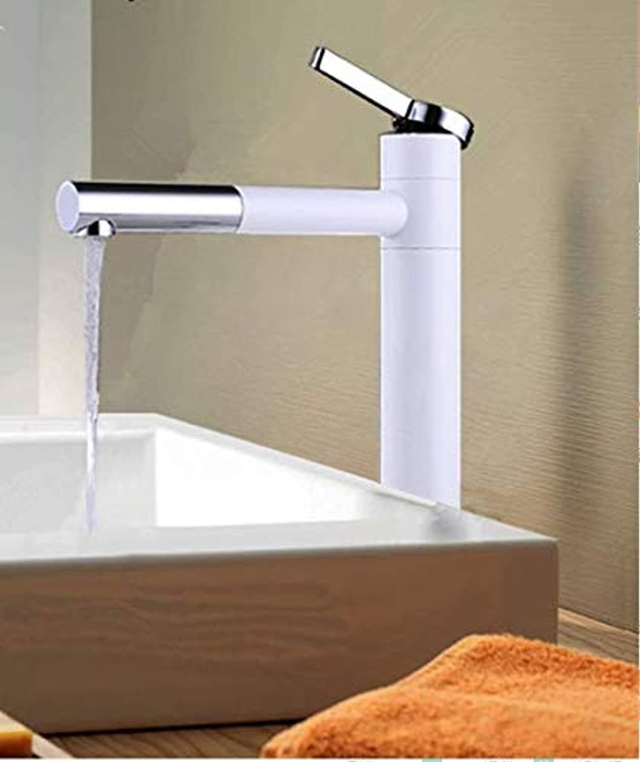 Modern Minimalist Nordic Design Style White Painted Lavatory Faucet