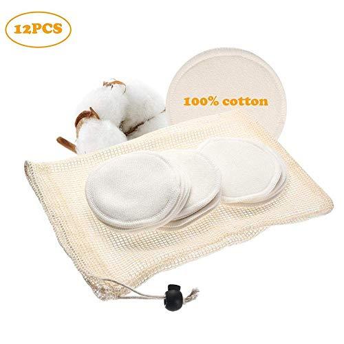 ZFXXN 12st réutilisable Make Up Pads enleveurs Coton démaquillant lavables, pour Les cosmétiques Quotidiens de la Peau Sensible
