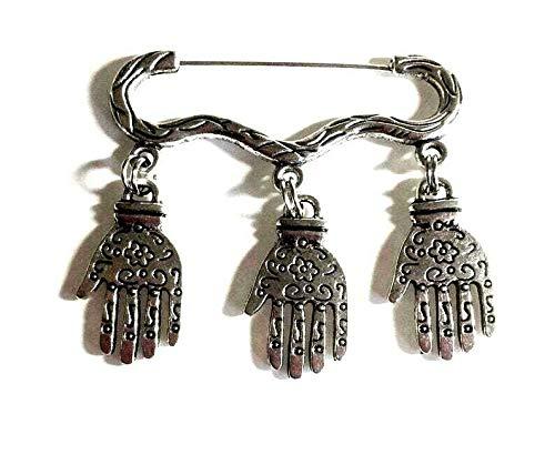 Henna-Hand, Hand der Fatima Brosche, Anstecknadel, Anstecknadel, Anstecknadel, Maniküre, Nagelkünstler