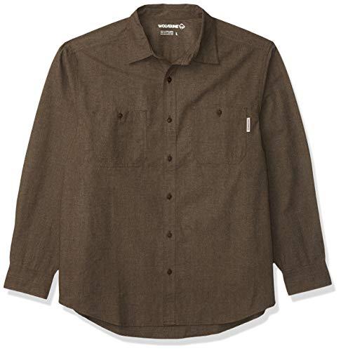 Wolverine Men's Plainwell Long Sleeve Shirt, Espresso Heather, XL