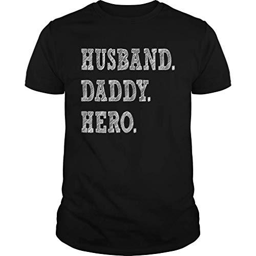 QUEMIN Camiseta para Hombre Husband Daddy Hero Gift Dad o Husband Father's Day 6XL